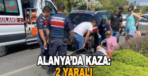 Alanya'da kaza: 2 yaralı