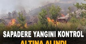 Sapadere yangını kontrol altına alındı