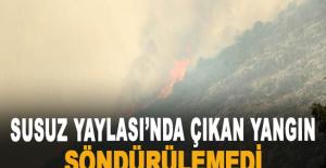 Susuz Yaylası'nda çıkan yangın...