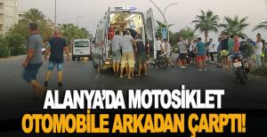 Alanya#039;da motosiklet otomobile...