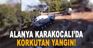 Alanya Karakocalı'da korkutan yangın!