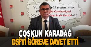 Coşkun Karadağ, DSİ'yi göreve davet etti