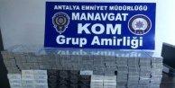 Manavgat'ta Kaçak Sigara Baskını