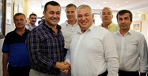 Mehmet Şahin, Yücel'i Ziyaret Etti