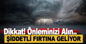 Alanya'da Şiddetli Fırtına