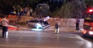 Alkollü sürücü duvara çarptı: 2 yaralı