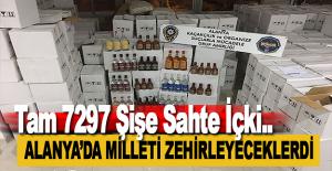 Alanya'da 7297 Şişe Sahte İçki Ele Geçirildi