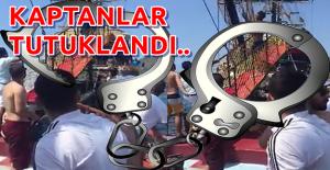 Alanya'da Tekne kaptanları tutuklandı