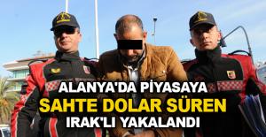 Alanya'da piyasaya sahte dolar süren Irak'lı yakalandı