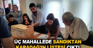 Üç mahallede sandıktan Karadağ'ın listesi çıktı