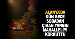 Alanya'da sobadan yangın çıktı