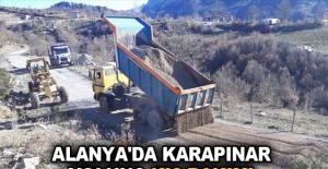 Alanya'da Karapınar yoluna kış bakımı