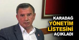 Karadağ yönetim listesini açıkladı