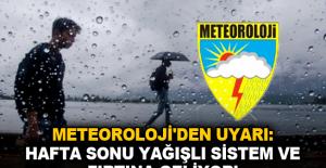 Meteoloji'den uyarı: Hafta Sonu Yağışlı Sistem ve Fırtına Geliyor!