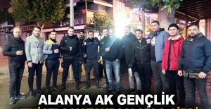 Alanya Ak Gençlik yeni yıla vatandaşlarla girdi