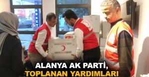Alanya Ak Parti, toplanan yardımları Elazığ'a gönderdi