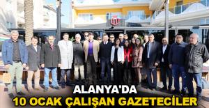 Alanya'da 10 Ocak Çalışan Gazeteciler Günü kutlandı