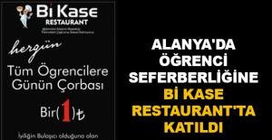 Alanya'da öğrenci seferberliğine Bi Kase Restaurant'ta katıldı