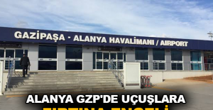 Alanya GZP'de uçuşlara fırtına engeli