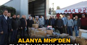 Alanya MHP'den Elazığ'a yardım desteği