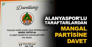 Alanyaspor'lu taraftarlardan mangal partisine davet