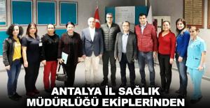 Antalya İl Sağlık Müdürlüğü ekiplerinden Alkü Hastanesi'ne ziyaret