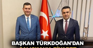Başkan Türkdoğan'dan Çalışkan'a ziyaret