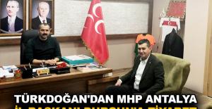 Türkdoğan'dan MHP Antalya İl Başkanı Durgun'a ziyaret