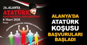 Alanya'da Atatürk Koşusu başvuruları başladı