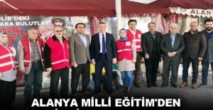 Alanya Milli Eğitim'den İdlib'e destek