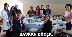 Başkan Böcek, ATASEM ve Halk Et'i inceledi