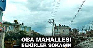 Oba Mahallesi Bekirler Sokağın yıllardır TEDAŞ'a isyanı