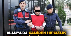 Alanya'da camiden hırsızlık yapan Suriyeli tutuklandı