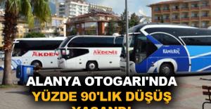 Alanya Otogarı'nda yüzde 90'lık düşüş yaşandı