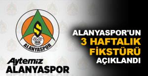 Alanyaspor'un 3 haftalık fikstürü açıklandı