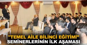"""""""Temel Aile Bilinci Eğitimi"""" seminerlerinin ilk aşaması tamamlandı"""