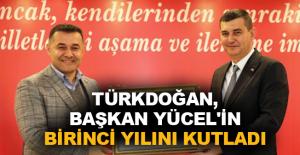 Türkdoğan, Başkan Yücel'in birinci yılını kutladı