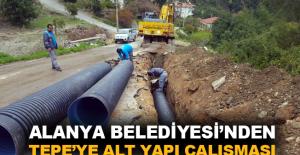 Alanya Belediyesi'den Tepe'ye alt yapı çalışması