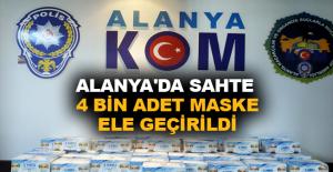 Alanya'da sahte 4 bin adet maske ele geçirildi