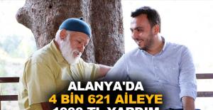 Alanya'da 4 bin 621 aileye 1000 TL yardım