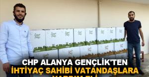 CHP Alanya Gençlik'ten ihtiyaç sahibi vatandaşlara yardım eli