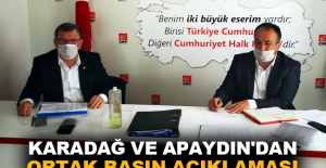 Karadağ ve Apaydın'dan ortak basın açıklaması