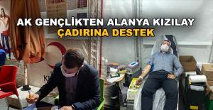 Ak Gençlik'ten Alanya Kızılay çadırına destek