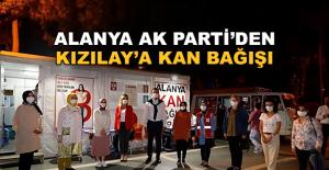 Alanya AK Parti'den Kızılay'a kan bağışı