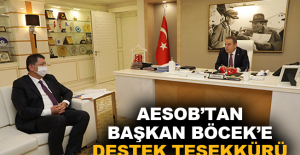 AESOB'tan Başkan Böcek'e destek teşekkürü