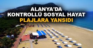 Alanya'da kontrollü sosyal hayat plajlara yansıdı