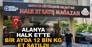 Alanya Halk Et'tebir ayda 12 bin kg et satıldı