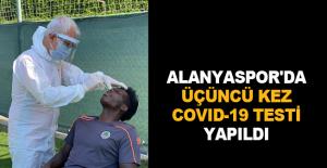 Alanyaspor'da üçüncü kez Covid-19 testi yapıldı