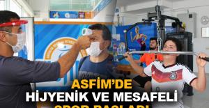 ASFİM'de hijyen ve sosyal mesafe ön planda