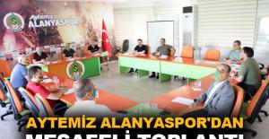 Aytemiz Alanyaspor'dan sosyal mesafeli toplantı